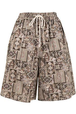 GOEN.J Bohemian vintage-rug-print shorts