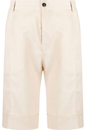 CORELATE Patch-pocket bermuda shorts - Neutrals