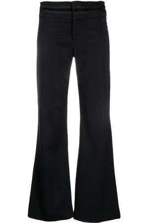 Gucci 1990s appliqué stripes flared trousers