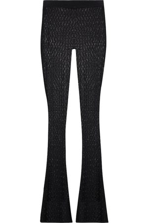 DODO BAR OR Pointelle-knit flared pants
