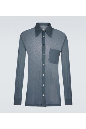 Maison Margiela Cotton and silk long-sleeved shirt