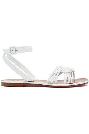 Christian Louboutin Ella Braided Leather Flat Sandals - Womens