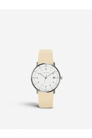 Junghans Women Watches - 027/7806.00 Max Bill Automatic stainless-steel and leather strap watch