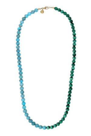 Fry Powers Turquoise & Malachite 14kt Gold-plated Necklace - Womens - Multi