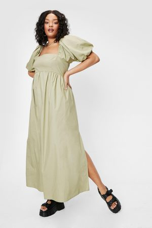 NASTY GAL Womens Plus Size Puff Sleeve Maxi Dress