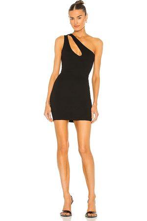 superdown Nava Asymmetrical Mini Dress in . Size S, XL, XS, XXS.