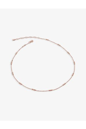 Monica Vinader Women Necklaces - Beaded 18ct rose -plated vermeil sterling-silver chain necklace