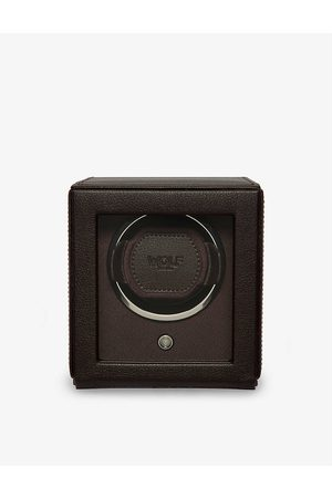 The Alkemistry WOLF Cub vegan-leather single watch winder