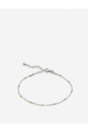 Monica Vinader Beaded recycled sterling chain bracelet