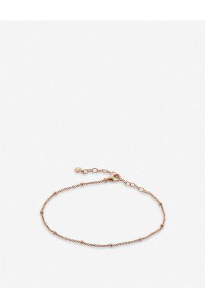 Monica Vinader Fine Beaded 18ct rose -plate vermeil sterling-silver chain bracelet