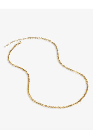 Monica Vinader Vintage 18ct yellow -plated vermeil silver chain necklace
