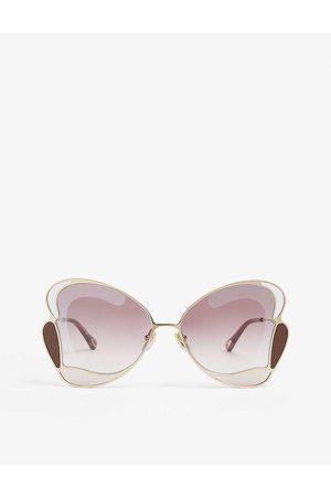 Chloé CH0048S Gemma butterfly-frame metal sunglasses