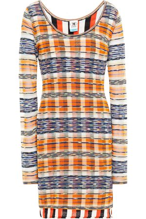 M Missoni Women Knitted Dresses - Woman Layered Cotton-blend Mini Dress Size 40