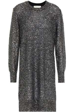 MICHAEL MICHAEL KORS Women Knitted Dresses - Woman Sequined Stretch-knit Mini Dress Size S