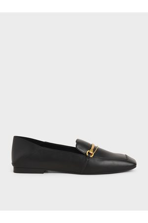 CHARLES & KEITH Women Loafers - Metallic Accent Loafers