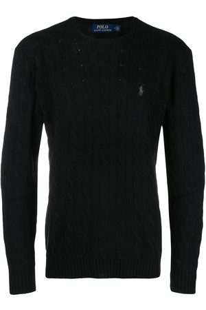 Polo Ralph Lauren Men Sweatshirts - Cable-knit logo embroidered jumper
