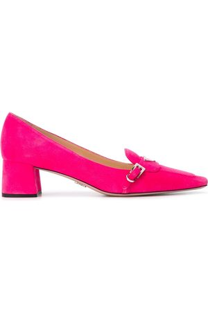 Prada Women Loafers - Square-toe heeled loafers