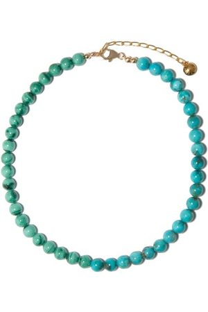 Fry Powers Turquoise & Malachite 14kt Gold-plated Choker - Womens - Multi
