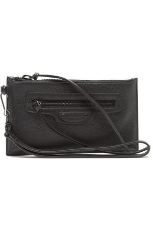 Balenciaga Neo Classic Small Grained-leather Pouch - Mens