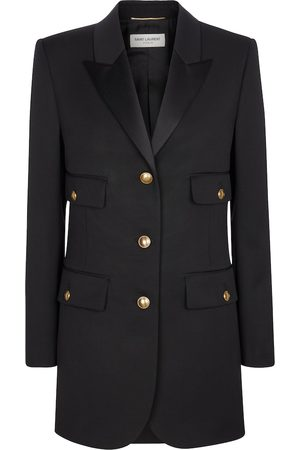 Saint Laurent Virgin wool and satin blazer