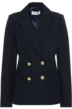 Derek Lam Women Blazers - Woman Double-breasted Stretch-cotton Twill Blazer Midnight Size 0