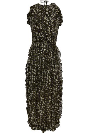 See by Chloé Women Halterneck Dresses - See By Chloé Woman Ruffled Polka-dot Georgette Halterneck Mini Dress Size 36