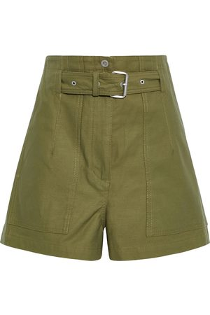 3.1 Phillip Lim Women Shorts - Woman Belted Cotton-canvas Shorts Army Size 10