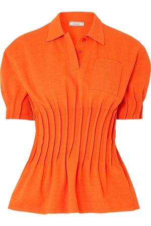 Nina Ricci Woman Pintucked Terry Polo Shirt Size S