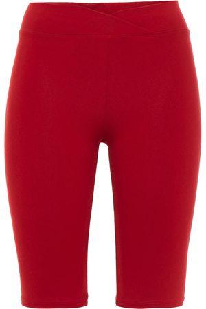 LIVE THE PROCESS Women Sports Shorts - Woman Stretch-supplex Shorts Crimson Size S