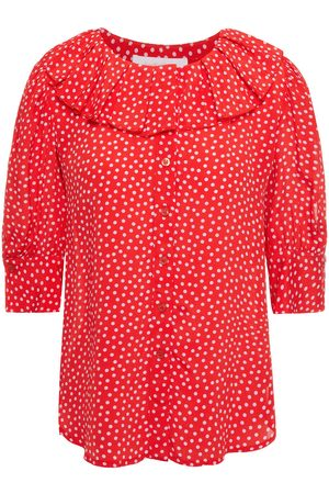 See by Chloé Women Blouses - See By Chloé Woman Ruffled Polka-dot Crepe De Chine Blouse Size 36