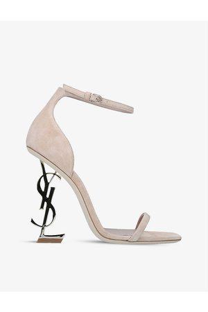Saint Laurent Women Heels - Opyum 110 suede heeled sandals
