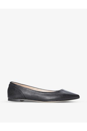 Dune Hamley pointed-toe leather ballet flats