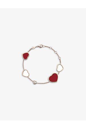 Chopard Happy Hearts 18ct rose- and diamond bracelet