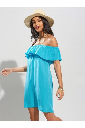 Pour Moi Textured Woven Bardot Beach Dress