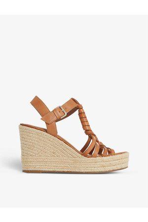 Dune Kofu espadrille leather wedge sandals