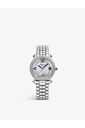 Chopard 278610-3002 Happy Sport stainless-steel and 1.59ct diamond self-winding mechanical watch