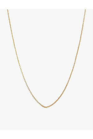 EDGE OF EMBER Box chain 18ct yellow -plated sterling-silver vermeil necklace