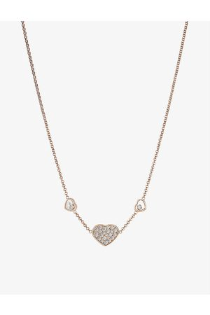 Chopard Happy Hearts 18ct rose- and 0.51ct diamond necklace