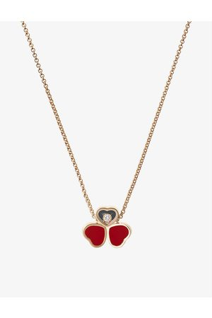 Chopard Women Necklaces - Happy Hearts Wings 18ct rose
