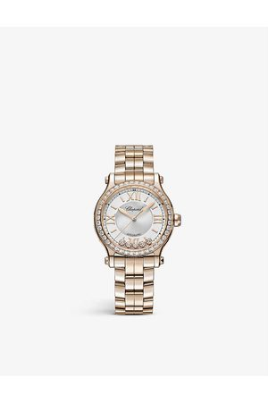 Chopard Women Watches - Happy Sport 275378-5004 18ct rose- and diamond automatic watch
