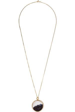 Aurélie Bidermann Women Necklaces - 18kt yellow Chivor large blue sapphire medallion necklace