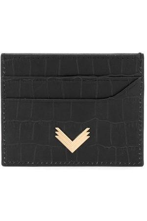 Manokhi Purses & Wallets - Crocodile embossed cardholder