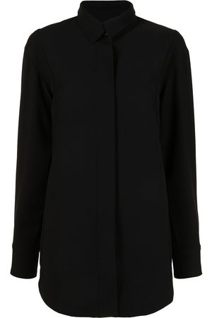 GOODIOUS Women Jackets - Twill concealed-button shirt jacket