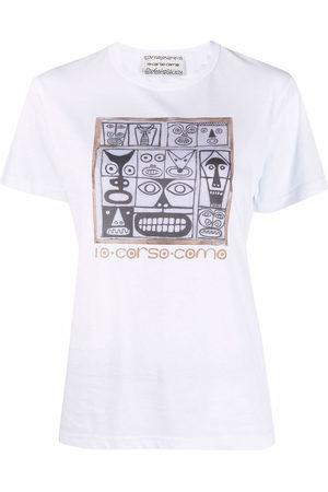 10 CORSO COMO Women Short Sleeve - Faces-print cotton T-shirt