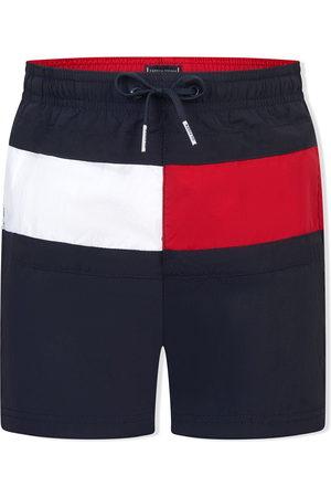 Tommy Hilfiger Boys Swim Shorts - Logo-patch swimming trunks