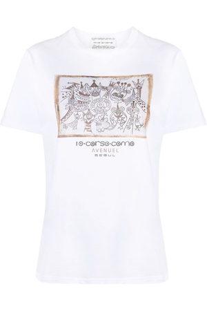 10 CORSO COMO Seoul shop print T-shirt