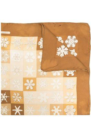 Hermès 1999 pre-owned snowflake-print Feux de l'Hiver silk scarf - Neutrals