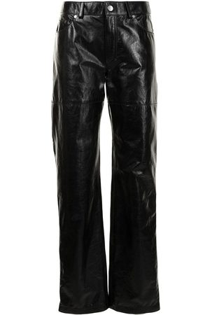 Peter Do Women Leather Trousers - Straight-leg leather trousers