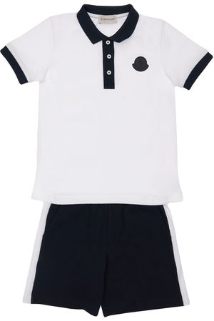 Moncler Boys Polo Shirts - Cotton Jersey Polo & Shorts