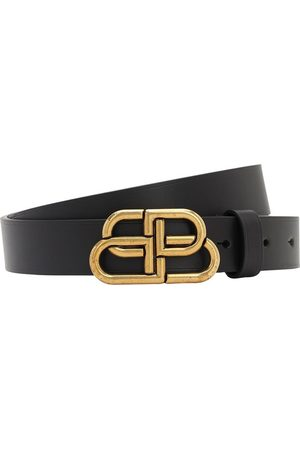 Balenciaga 30mm Bb Leather Belt